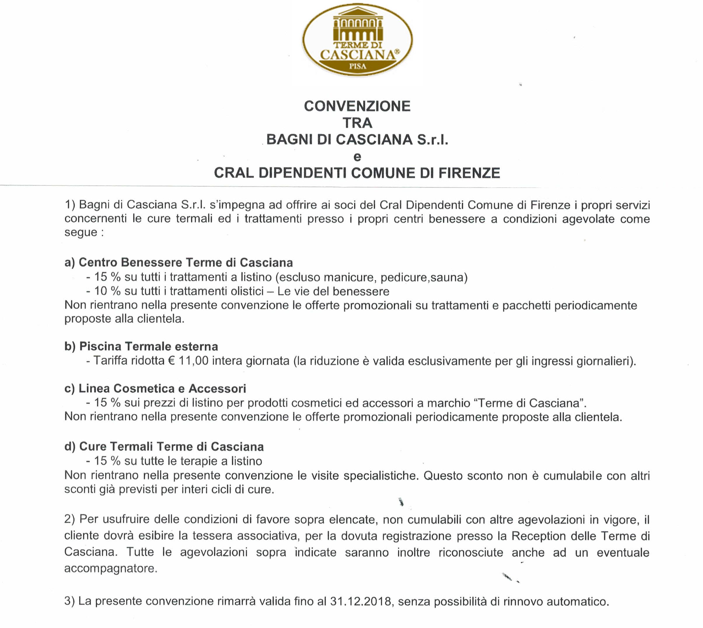 Bagni Casciana Terme - Cral Dipendenti Comune di Firenze